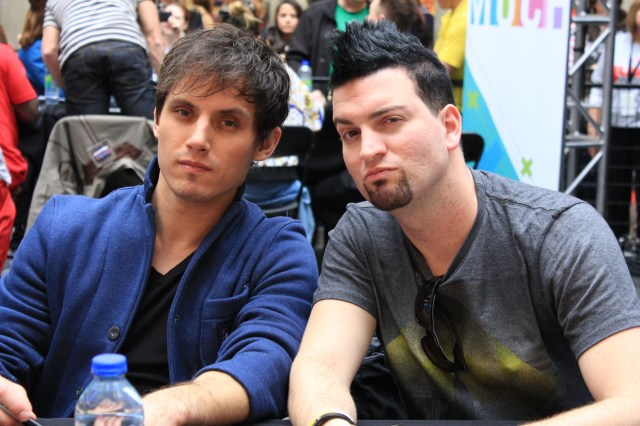 Marianas Trench Lead Guitar Matt Webb & Bass Guitar Mike Ayley Junos 2013 Fan Fare