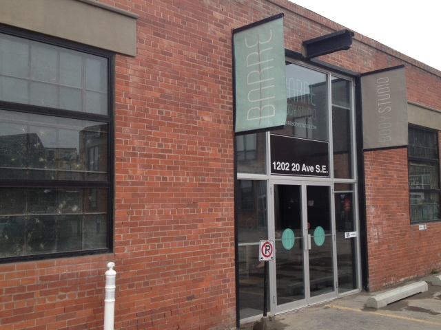 Barre Body Studio Calgary outside location FAB